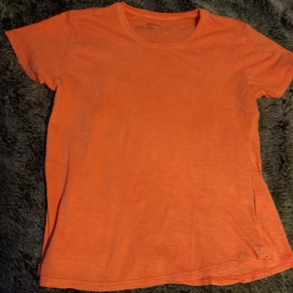d6247065f Cotton On Tops | Neon Orange Burnout The Crew Tshirt | Poshmark